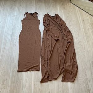 Brown Dress and Coverup